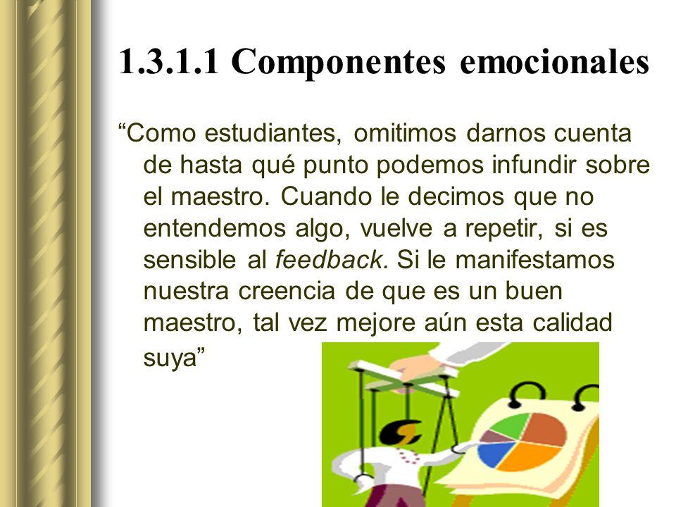 1.3.1.1 Componentes emocionales