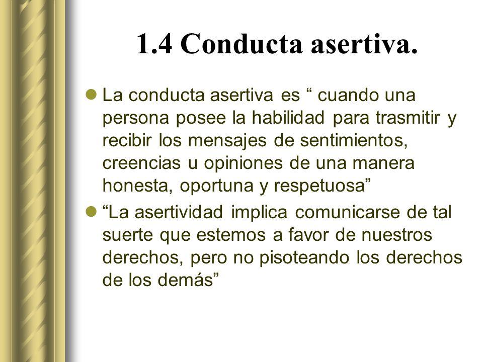 1.4 Conducta asertiva.