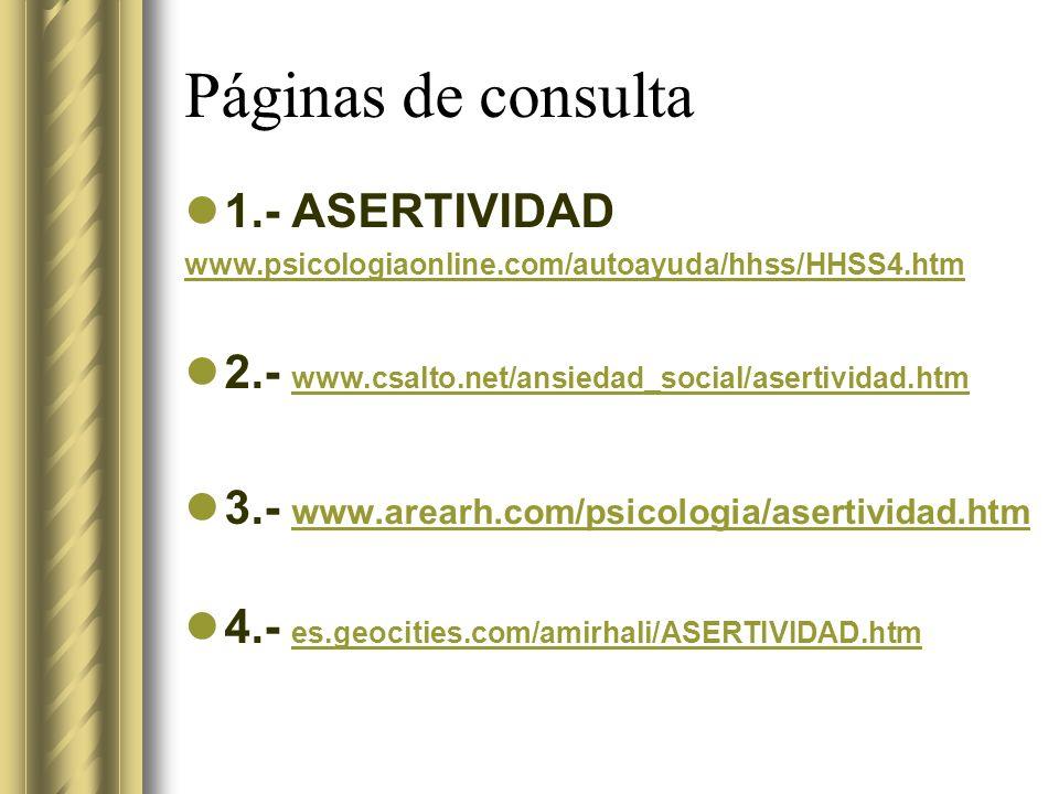 Páginas de consulta 1.- ASERTIVIDAD