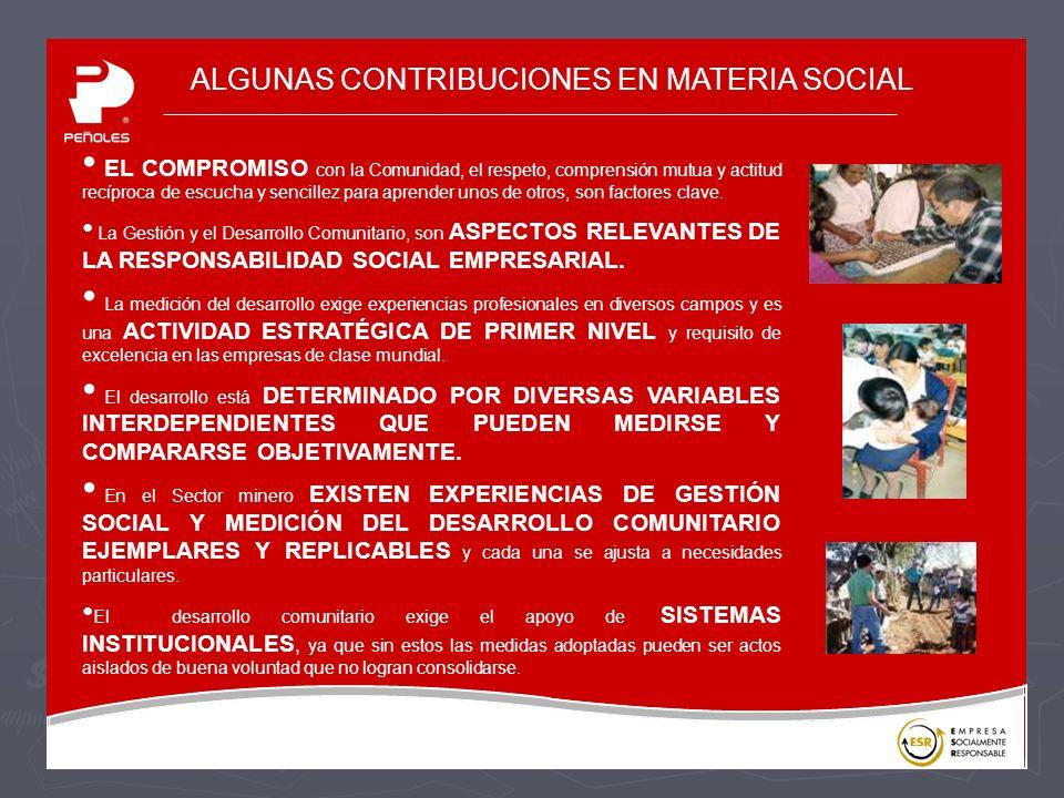 ALGUNAS CONTRIBUCIONES EN MATERIA SOCIAL