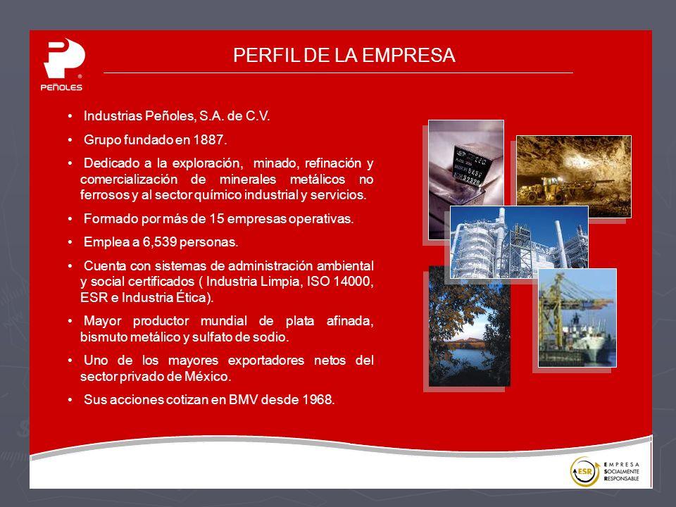 PERFIL DE LA EMPRESA Industrias Peñoles, S.A. de C.V.