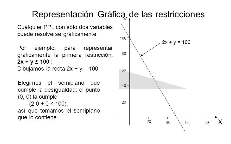 Representación Gráfica de las restricciones
