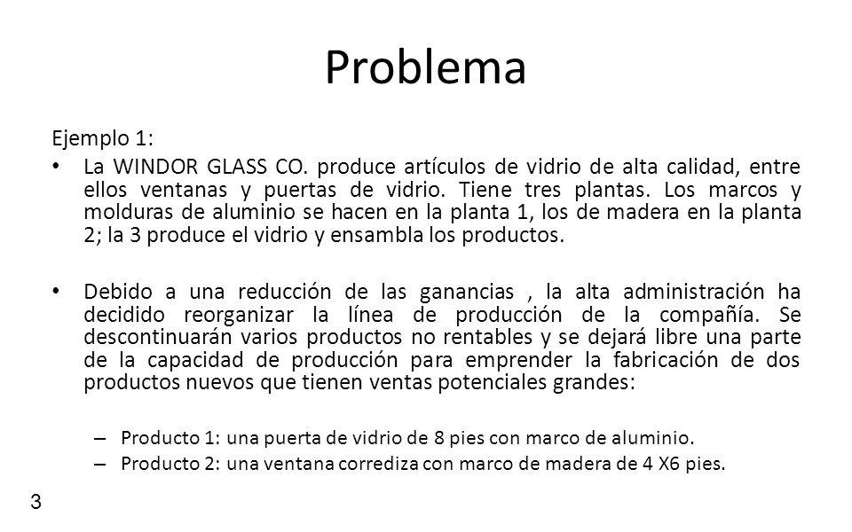 Problema Ejemplo 1:
