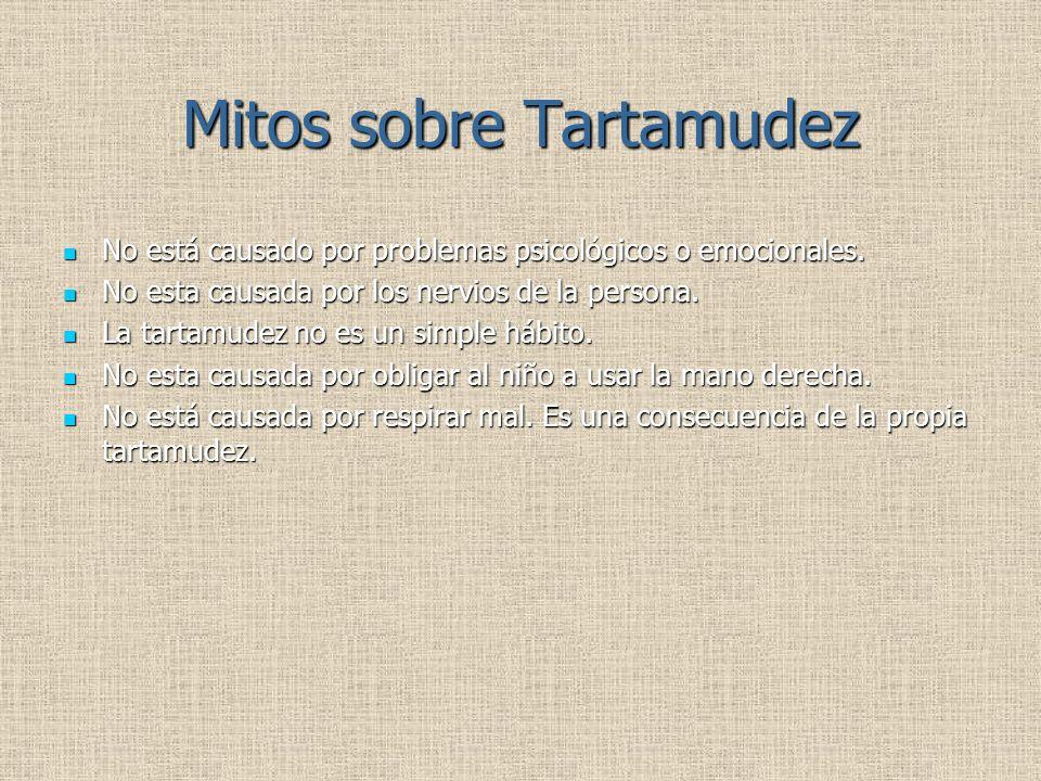 Mitos sobre Tartamudez