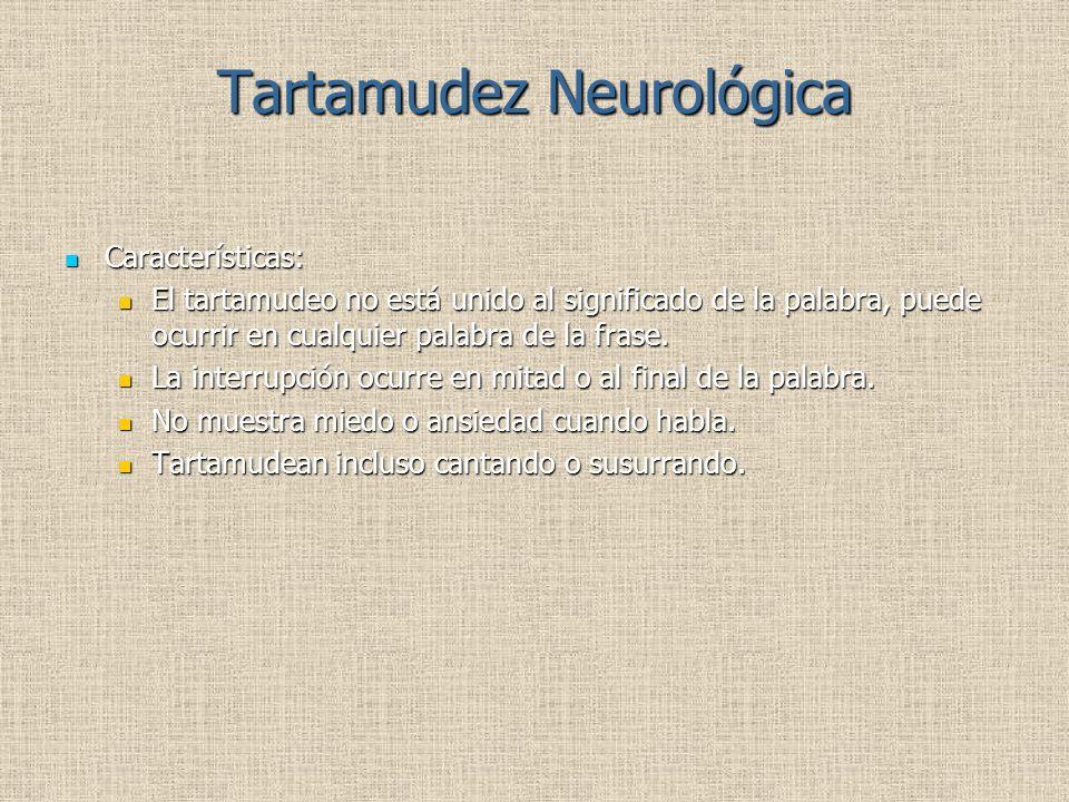 Tartamudez Neurológica