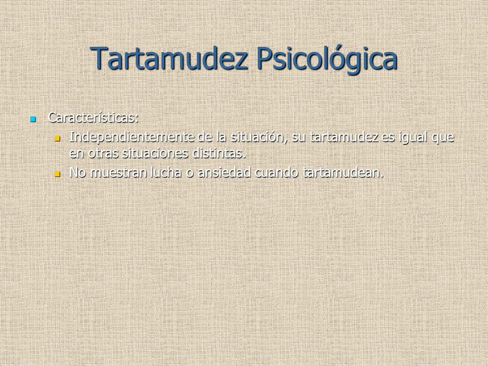 Tartamudez Psicológica