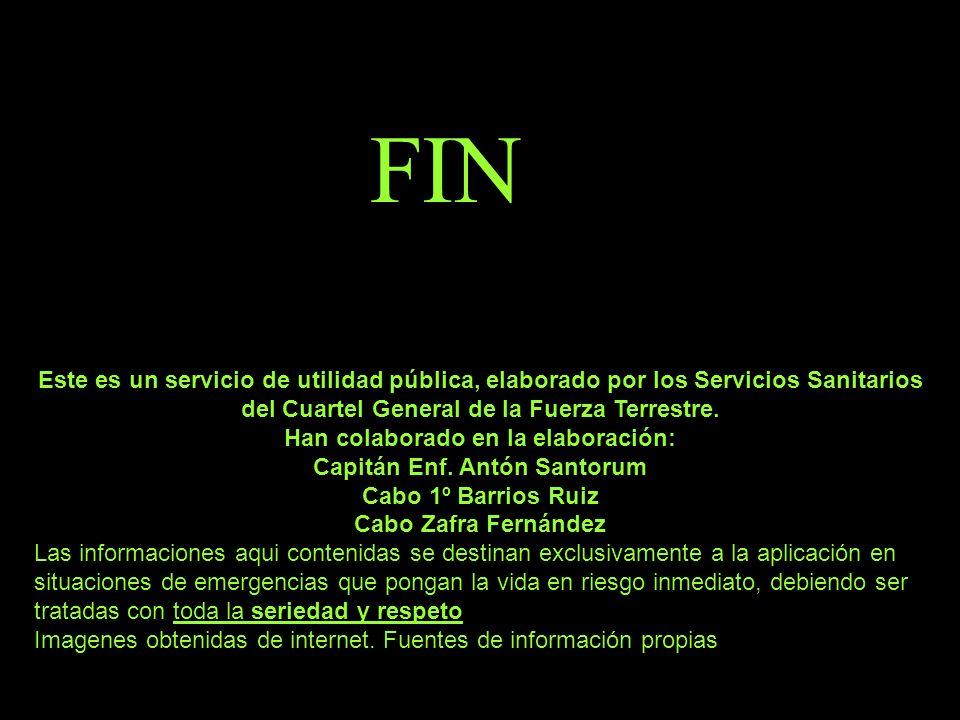 Han colaborado en la elaboración: Capitán Enf. Antón Santorum