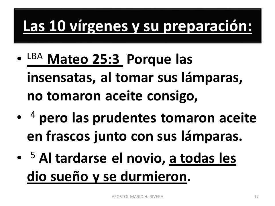 Las 10 vírgenes y su preparación: