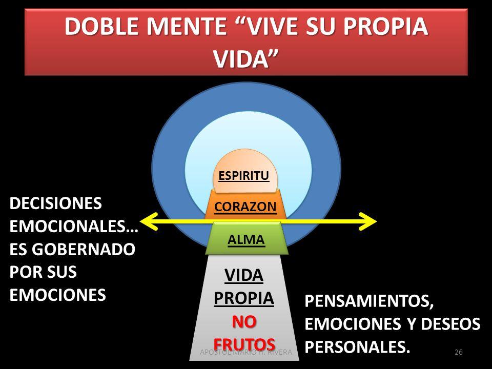 DOBLE MENTE VIVE SU PROPIA VIDA