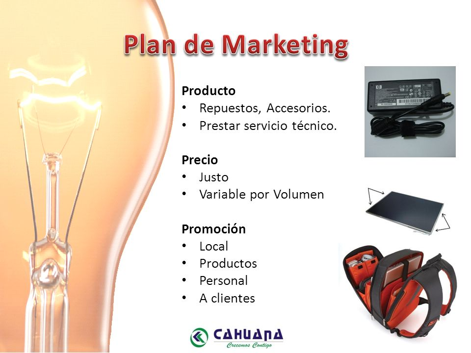 Plan de Marketing Producto Repuestos, Accesorios.