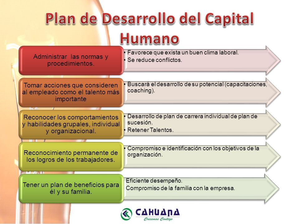 Plan de Desarrollo del Capital Humano