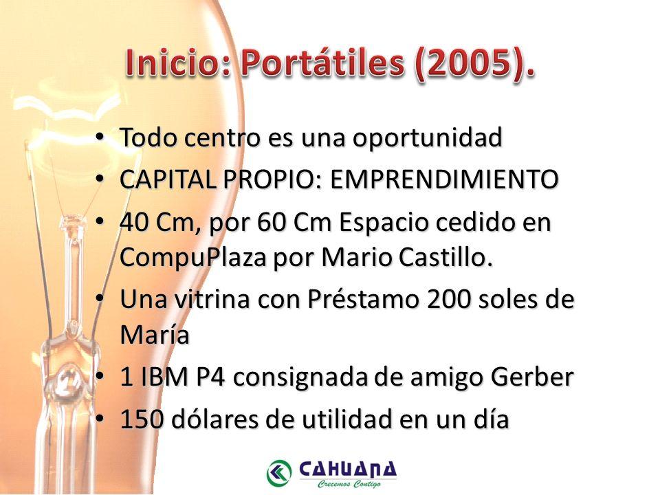 Inicio: Portátiles (2005). Todo centro es una oportunidad
