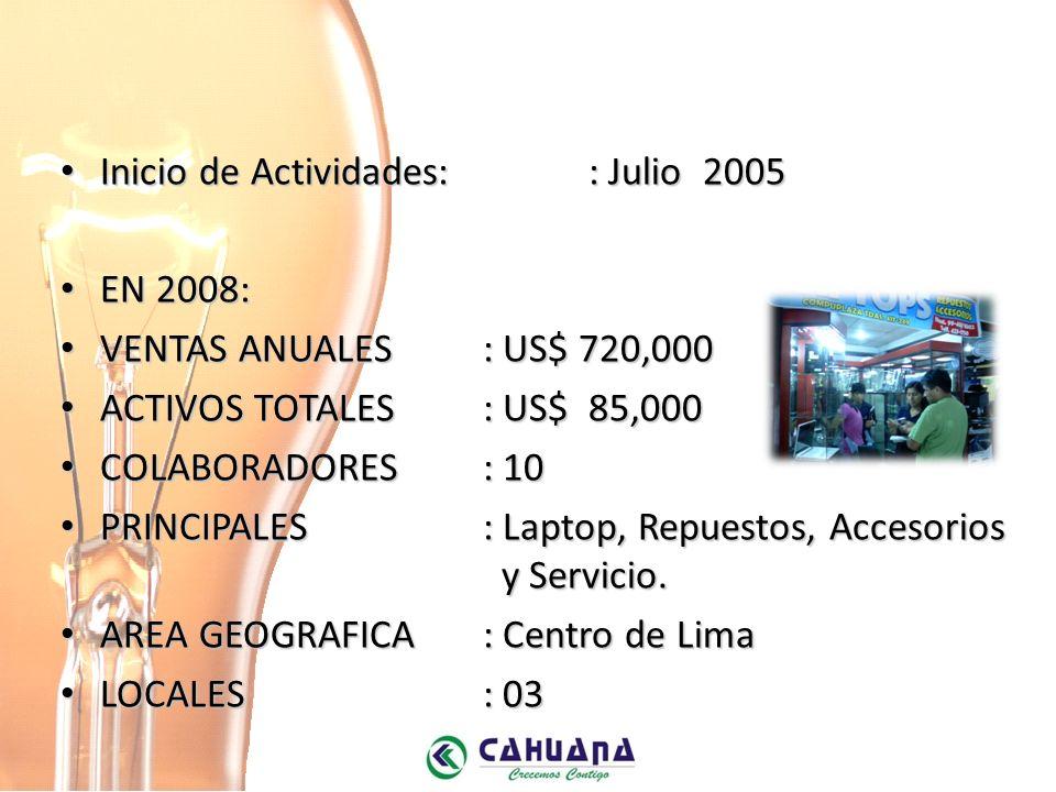 Inicio de Actividades: : Julio 2005