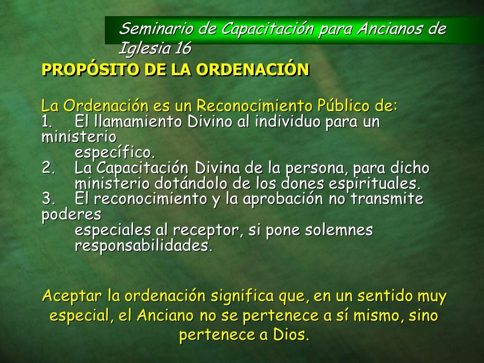 Seminario de Capacitación para Ancianos de Iglesia 16