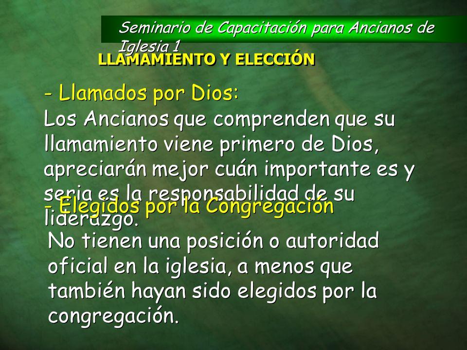 LLAMAMIENTO Y ELECCIÓN