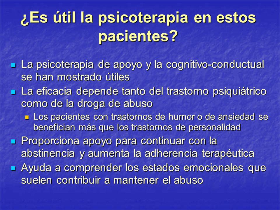 ¿Es útil la psicoterapia en estos pacientes