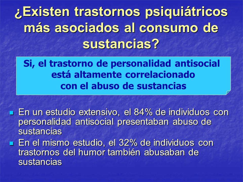 ¿Existen trastornos psiquiátricos más asociados al consumo de sustancias
