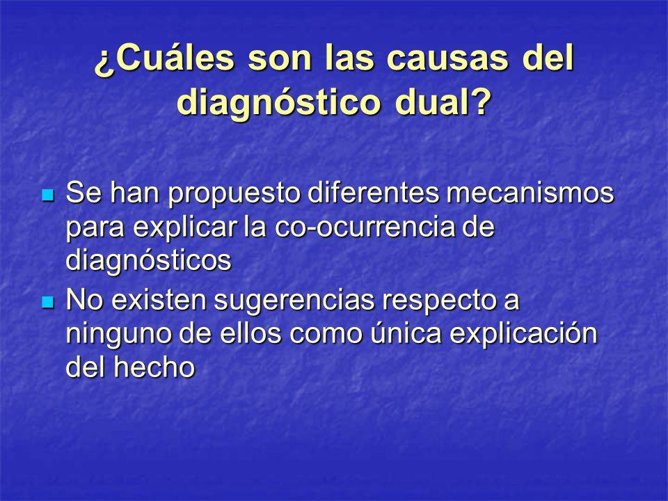 ¿Cuáles son las causas del diagnóstico dual