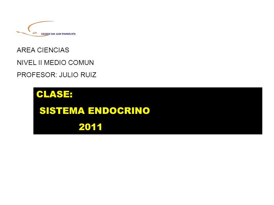 CLASE: SISTEMA ENDOCRINO 2011 AREA CIENCIAS NIVEL II MEDIO COMUN