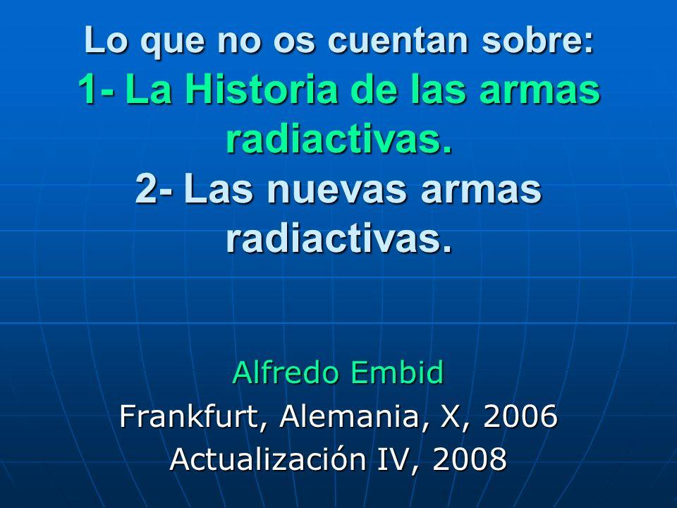 Alfredo Embid Frankfurt, Alemania, X, 2006 Actualización IV, 2008