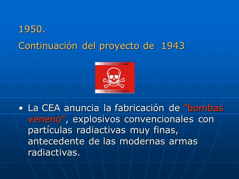 1950. Continuación del proyecto de 1943.