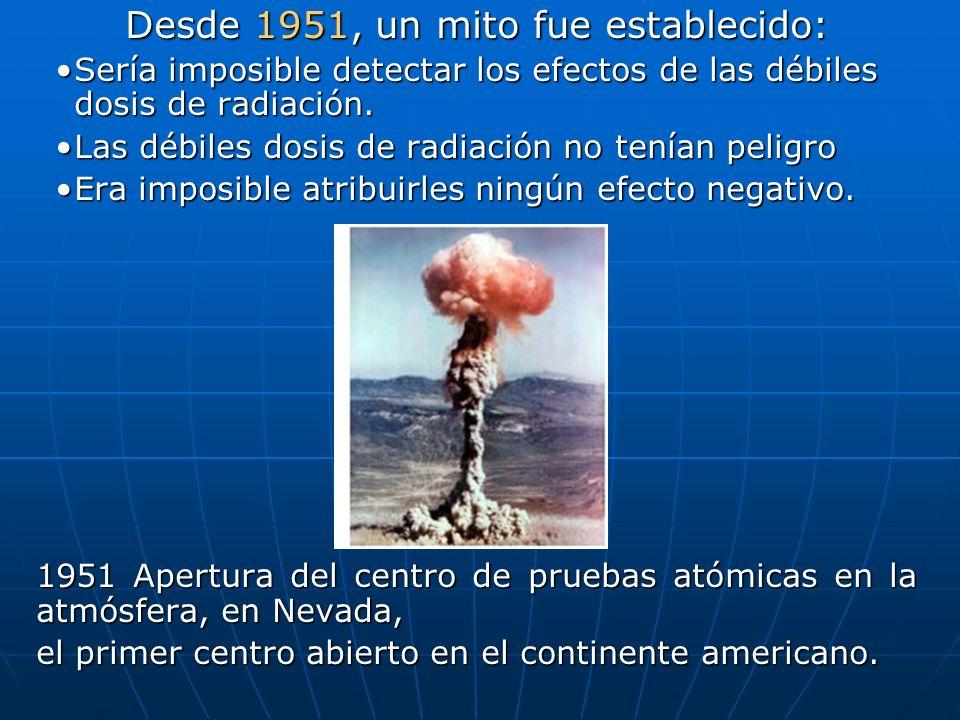 Desde 1951, un mito fue establecido: