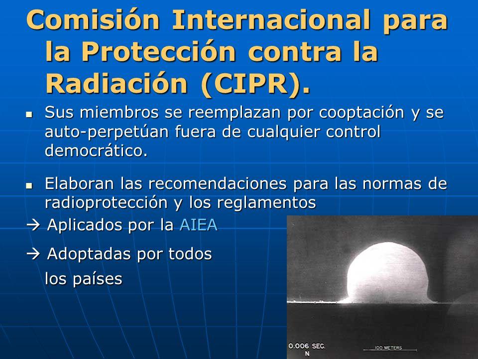 Comisión Internacional para la Protección contra la Radiación (CIPR).