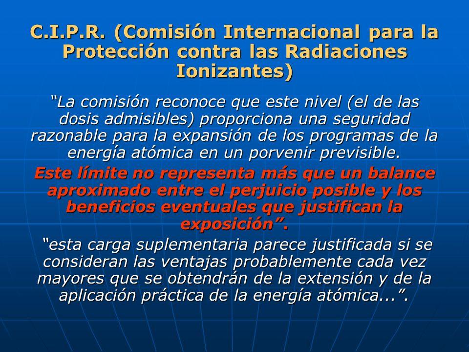 C.I.P.R. (Comisión Internacional para la Protección contra las Radiaciones Ionizantes)
