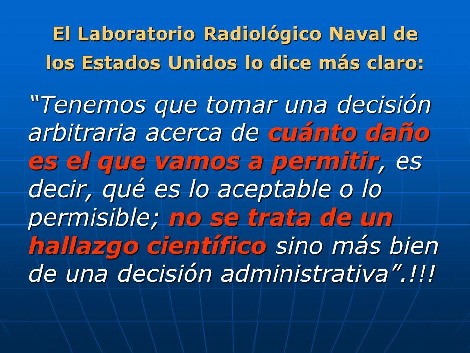 El Laboratorio Radiológico Naval de