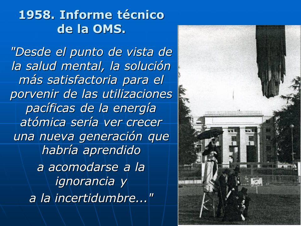 1958. Informe técnico de la OMS.