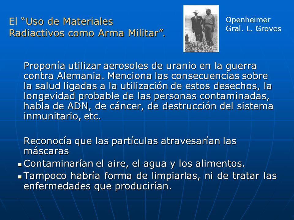 El Uso de Materiales Radiactivos como Arma Militar .