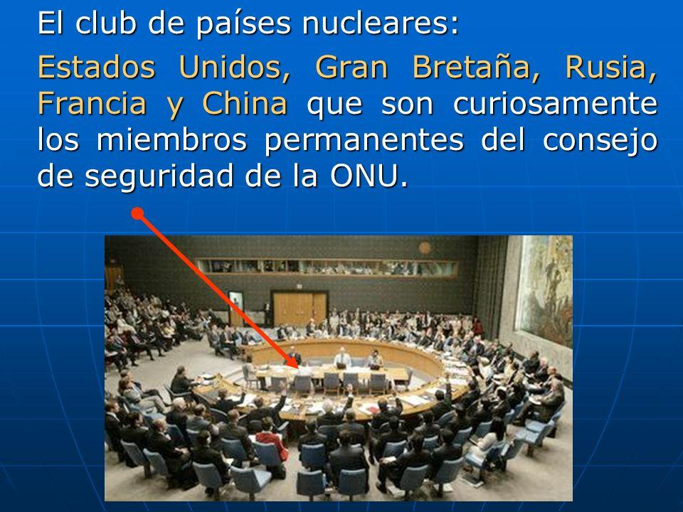 El club de países nucleares: