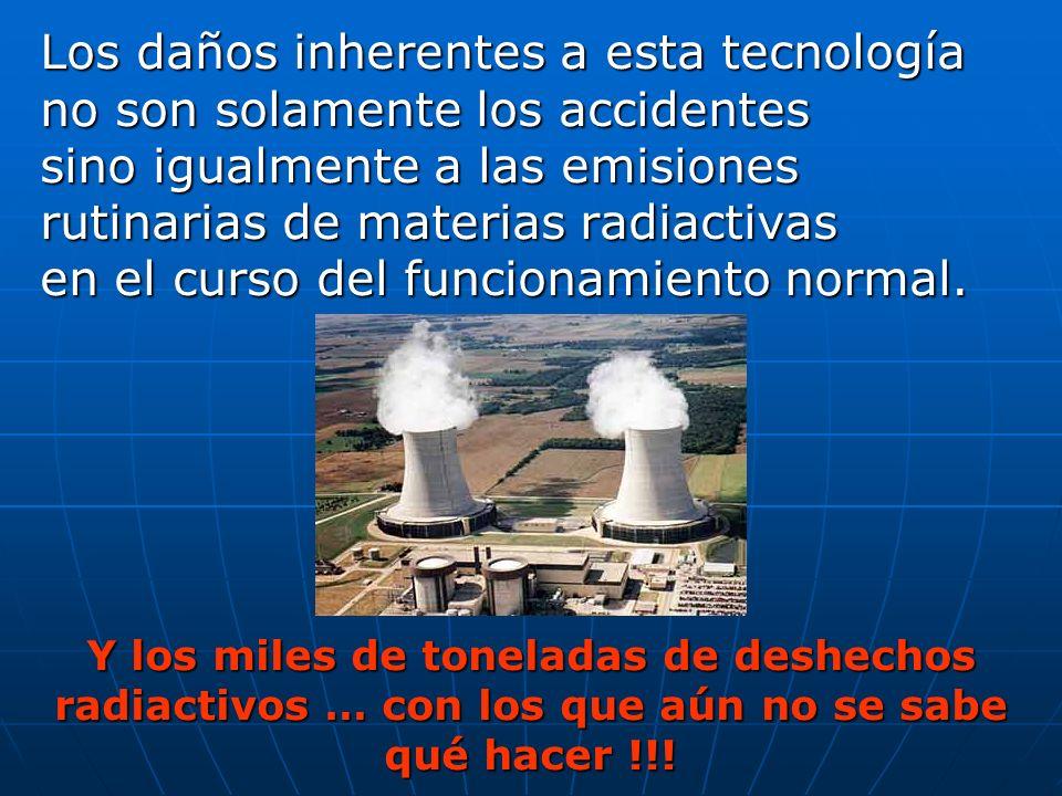 Los daños inherentes a esta tecnología no son solamente los accidentes