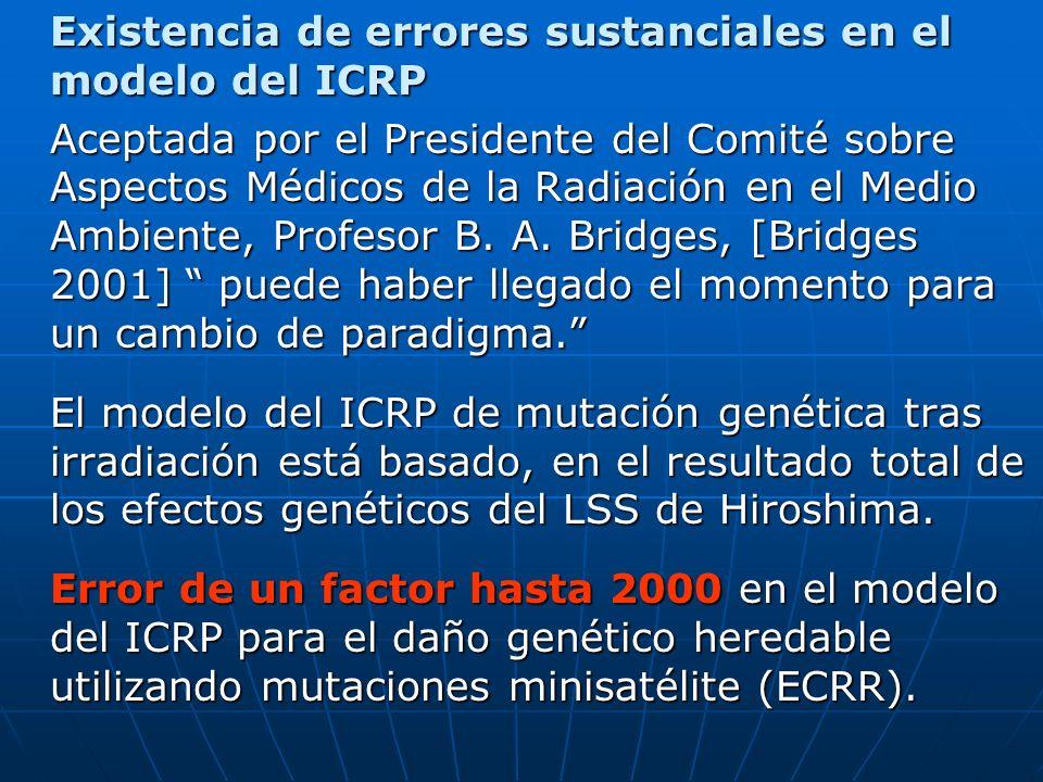 Existencia de errores sustanciales en el modelo del ICRP