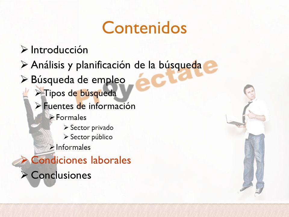 Contenidos Introducción Análisis y planificación de la búsqueda