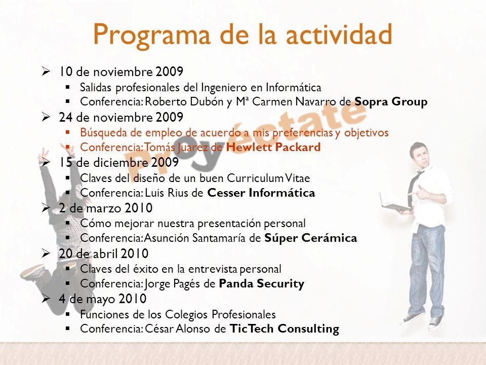 Programa de la actividad