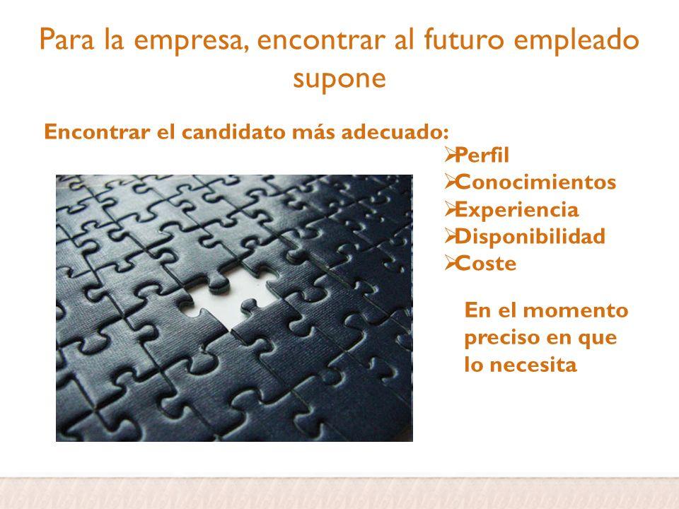 Para la empresa, encontrar al futuro empleado supone