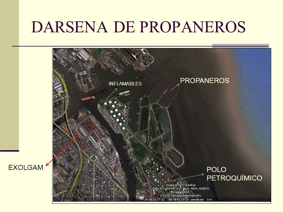 DARSENA DE PROPANEROS PROPANEROS INFLAMABLES EXOLGAM POLO PETROQUÍMICO