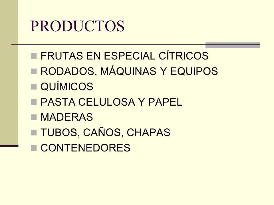 PRODUCTOS FRUTAS EN ESPECIAL CÍTRICOS RODADOS, MÁQUINAS Y EQUIPOS