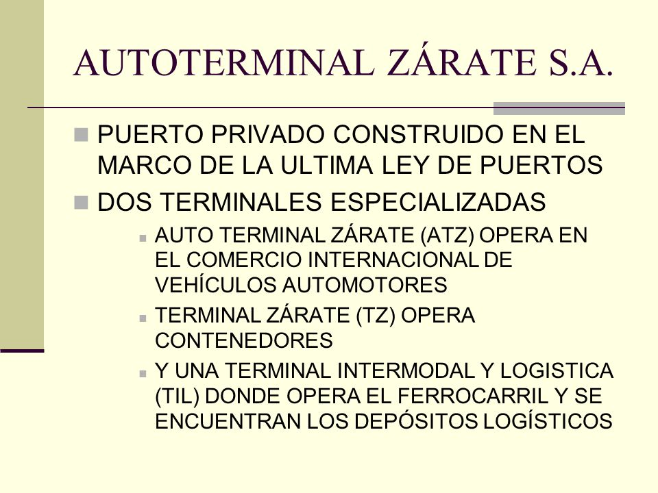 AUTOTERMINAL ZÁRATE S.A.