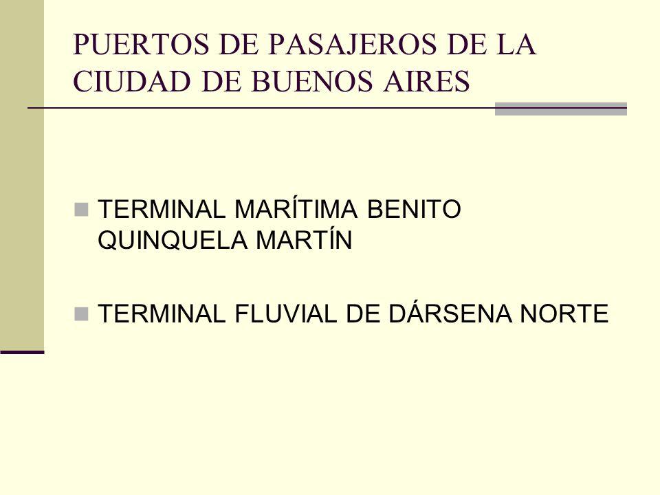 PUERTOS DE PASAJEROS DE LA CIUDAD DE BUENOS AIRES