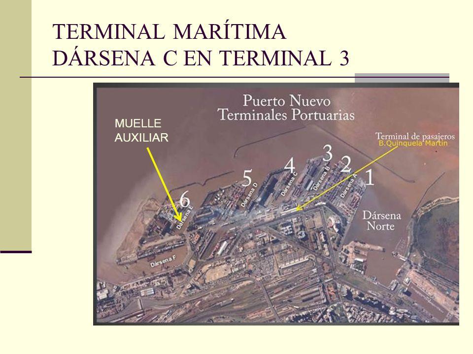 TERMINAL MARÍTIMA DÁRSENA C EN TERMINAL 3