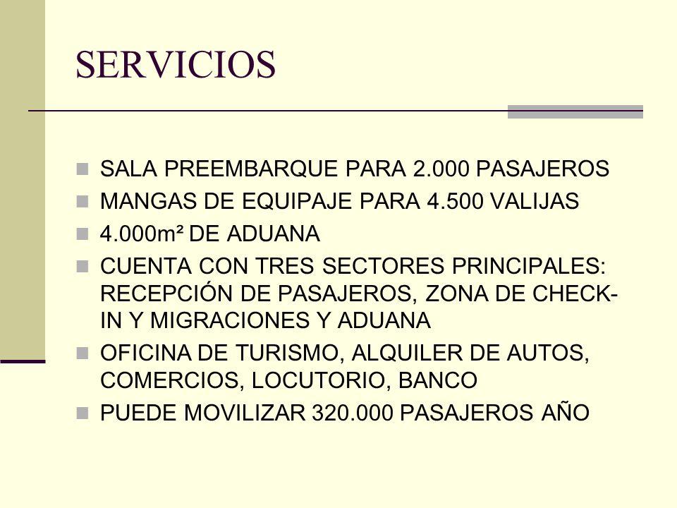 SERVICIOS SALA PREEMBARQUE PARA 2.000 PASAJEROS