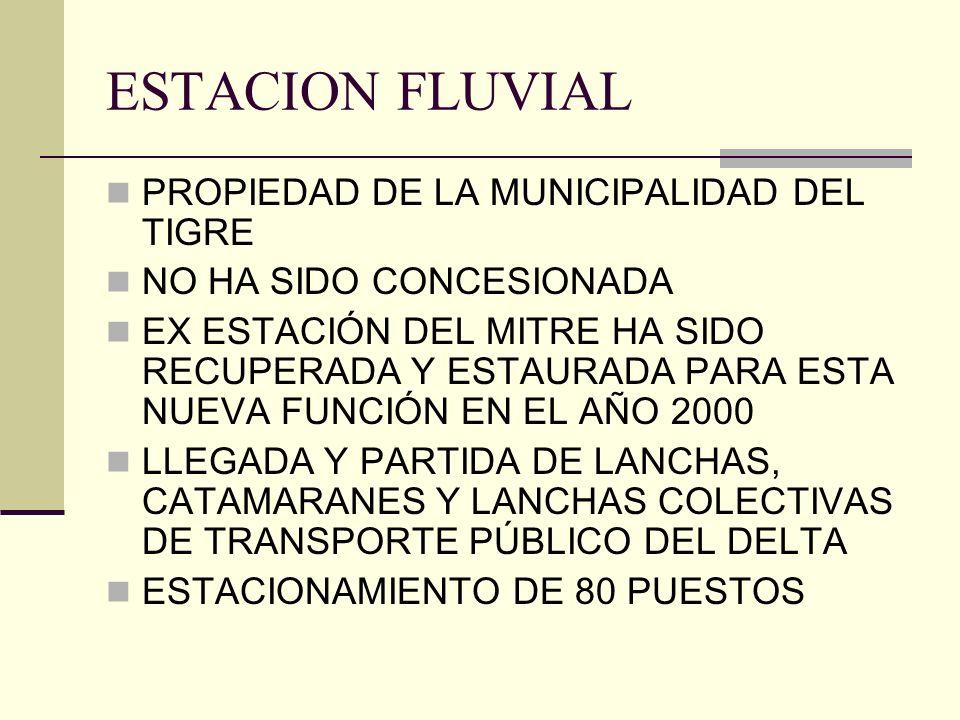 ESTACION FLUVIAL PROPIEDAD DE LA MUNICIPALIDAD DEL TIGRE