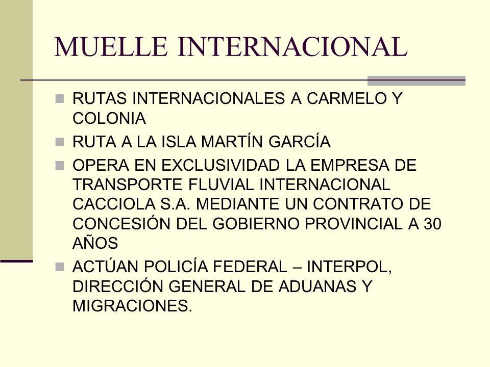 MUELLE INTERNACIONAL RUTAS INTERNACIONALES A CARMELO Y COLONIA