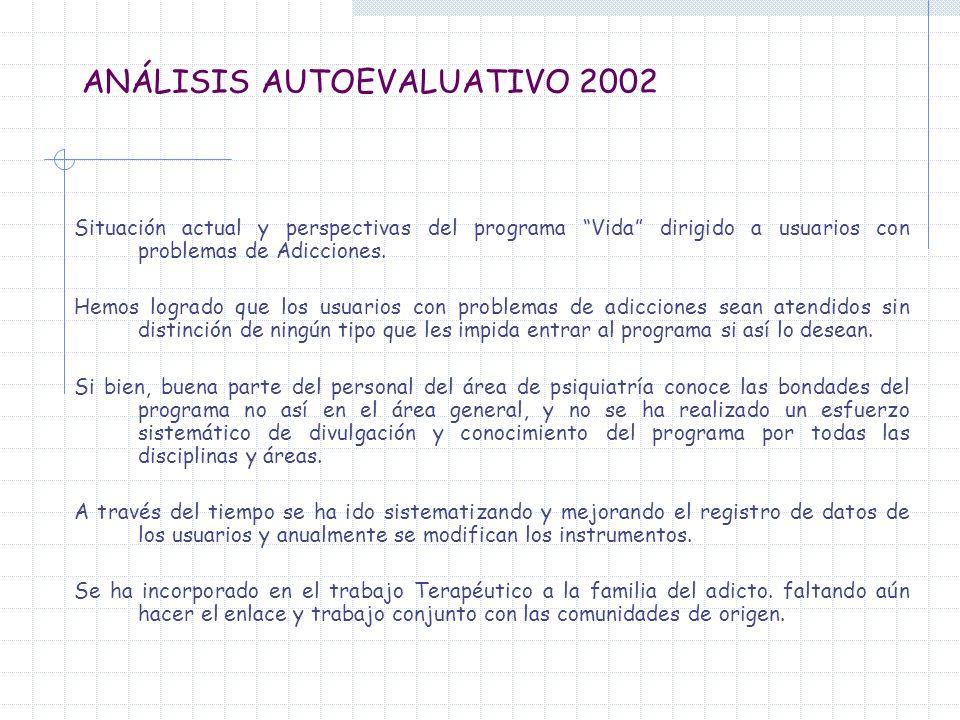 ANÁLISIS AUTOEVALUATIVO 2002