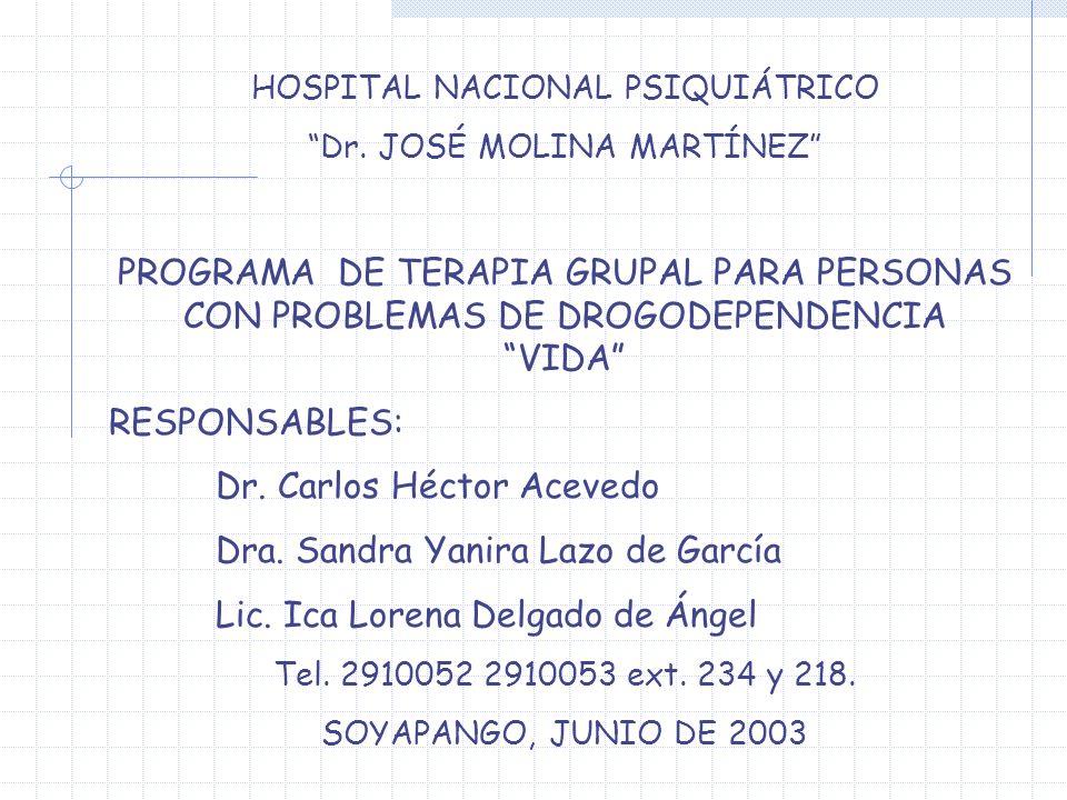 Dr. Carlos Héctor Acevedo Dra. Sandra Yanira Lazo de García