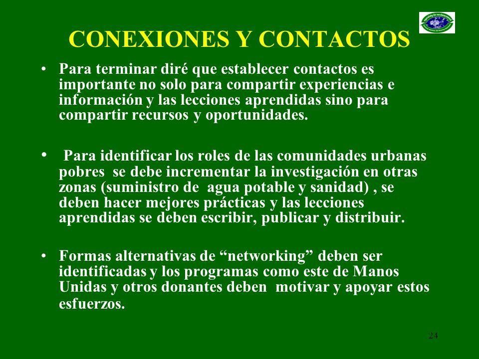 CONEXIONES Y CONTACTOS