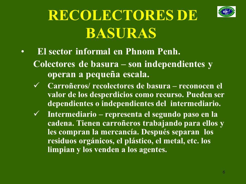 RECOLECTORES DE BASURAS