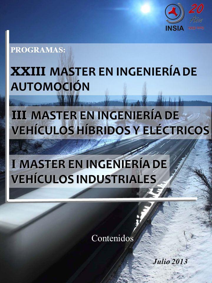 XXIII MASTER EN INGENIERÍA DE AUTOMOCIÓN